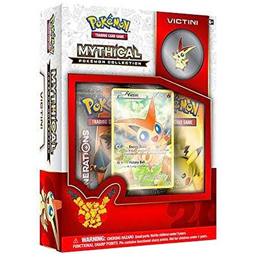 nice       £14.47  Rare and mysterious, Mythical Pokémon arrive when they choose—and disappear just as quickly! Step forward into a new level ...  Check more at http://fisheyepix.co.uk/shop/pokemon-victini-mythical-collection/