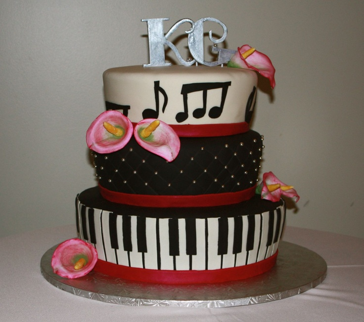 Jazz Theme Wedding Cake