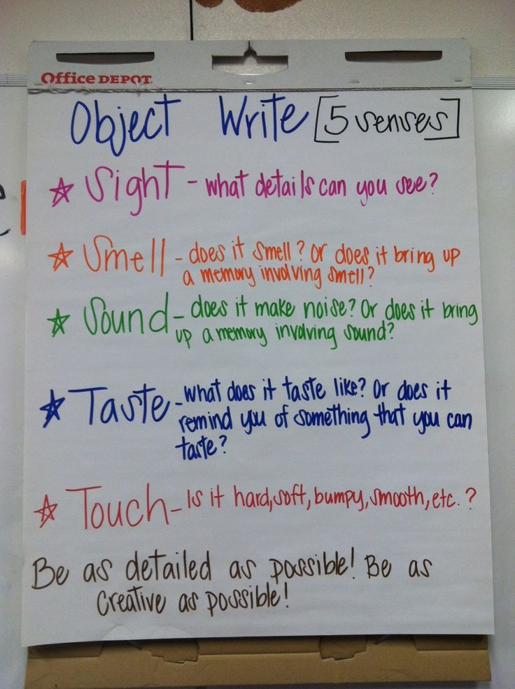 Fun Descriptive Writing Activity - bring in an object for them to describe