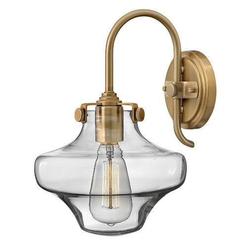 Hinkley Congress 1 Light Clear Glass Wall Light