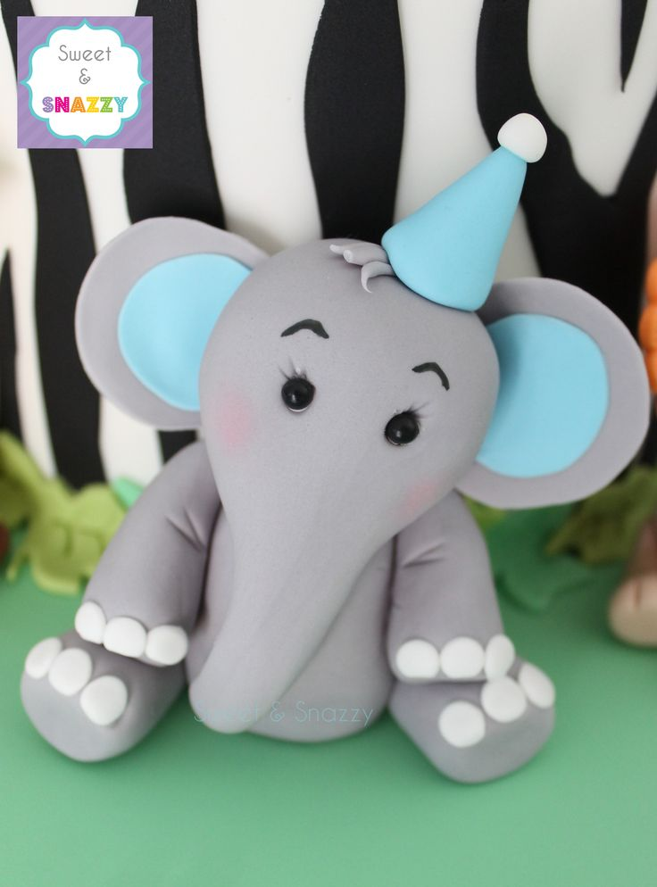 Lovely Elephant Cake Topper   Fondant Elephant By Sweet U0026 Snazzy Https://www.