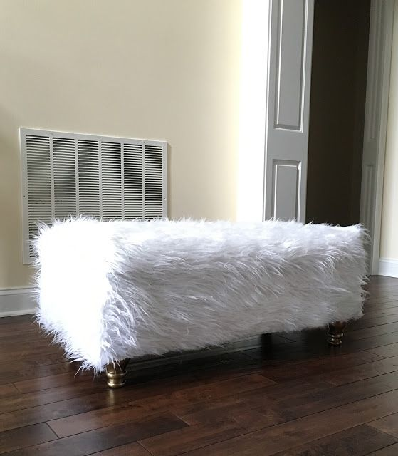 Fur Ottoman Makeover in Less Than an Hour! | Less Than Perfect Life of Bliss…