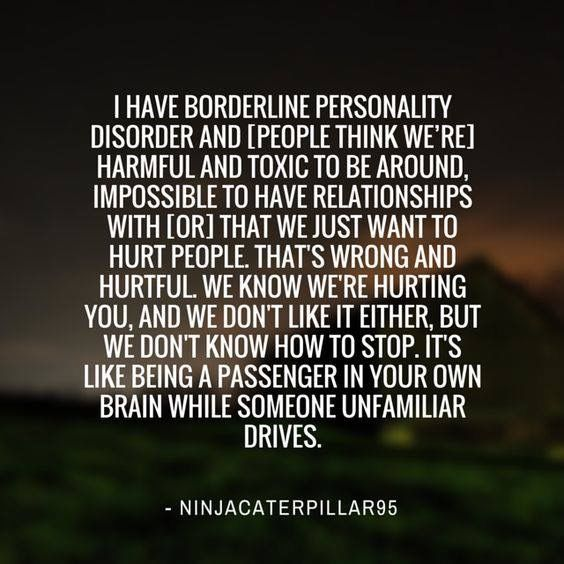 Having a relationship with someone with borderline personality disorder