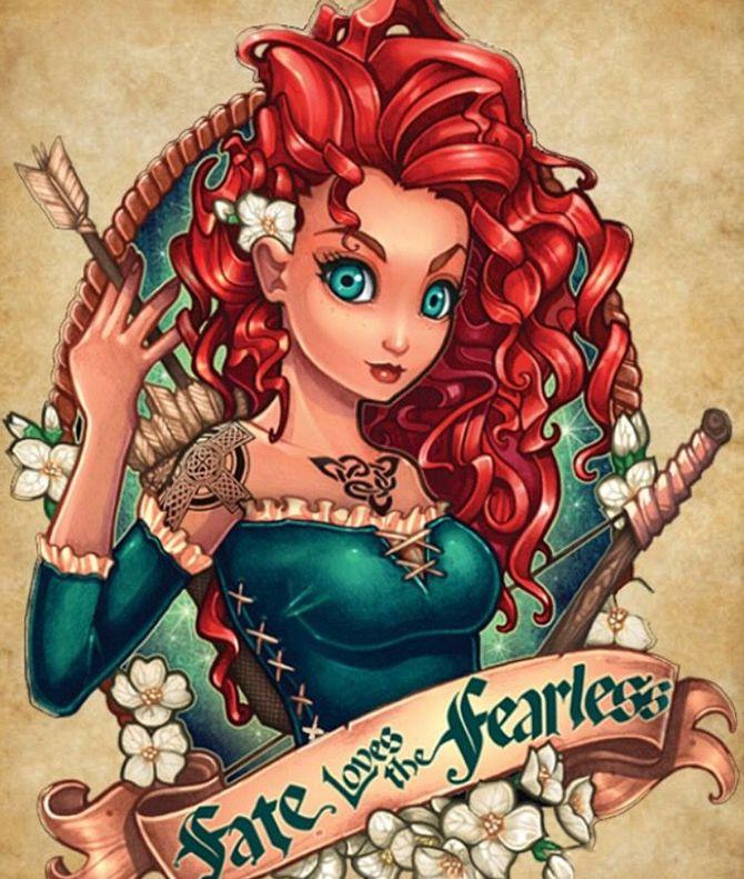 12 fascinants tatouages à l'effigie des princesses Disney !