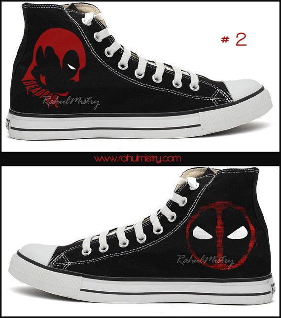 Marvel Deadpool Hand-painted Converse Shoes by RahulMistry on Etsy