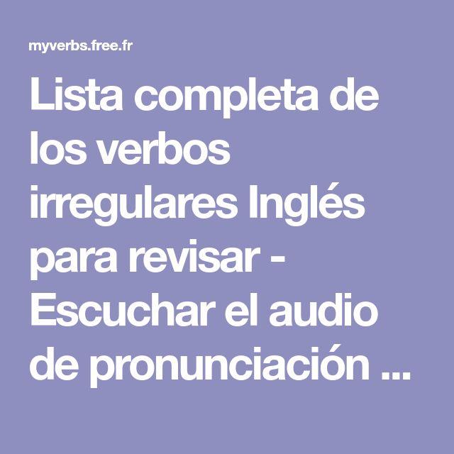 lista verbos irregulares ingles pdf pronunciacion