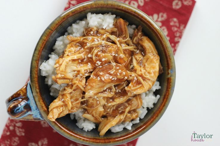 Delicious Slow Cooker Chicken Teriyaki Recipe using honey as a natural sweetener, your whole family will love this meal!