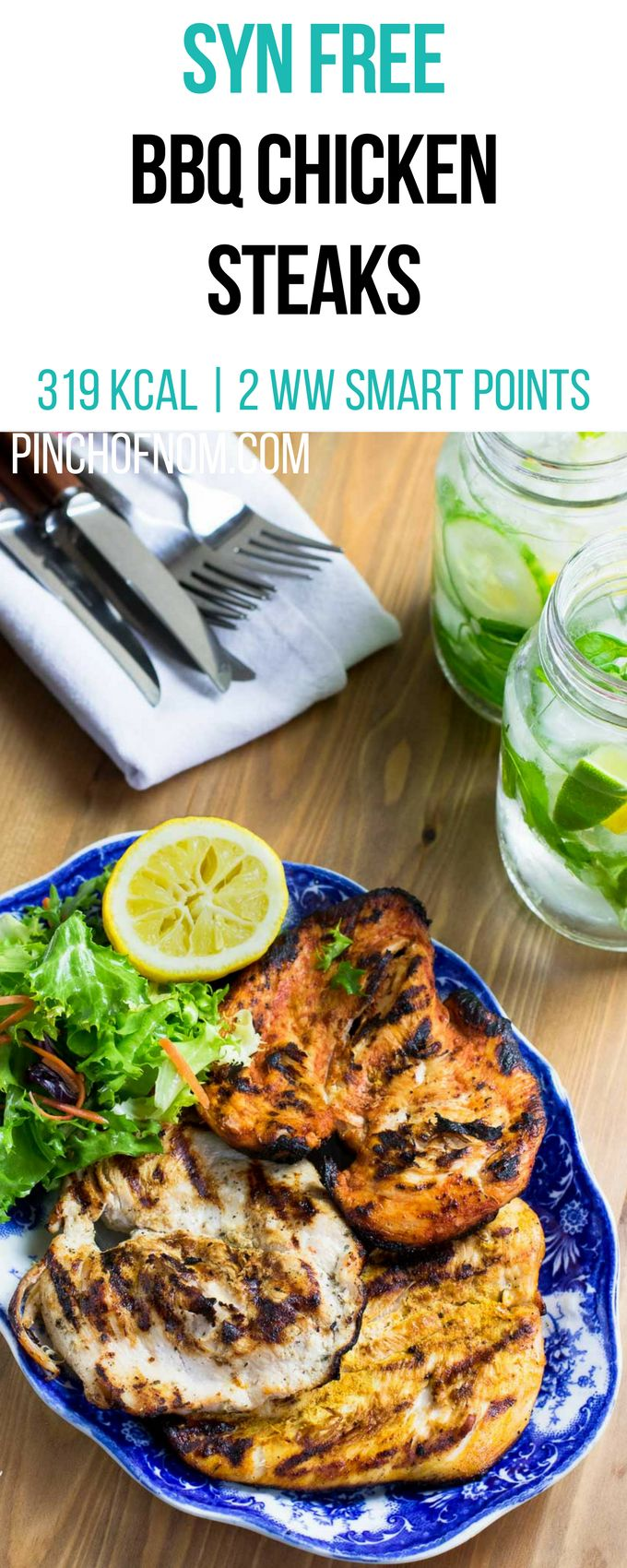 Syn Free BBQ Chicken Steaks | Pinch Of Nom Slimming World Recipes 319 kcal | Syn Free | 2 Weight Watchers Smart Points