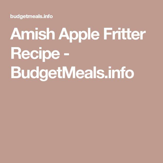 Amish Apple Fritter Recipe - BudgetMeals.info