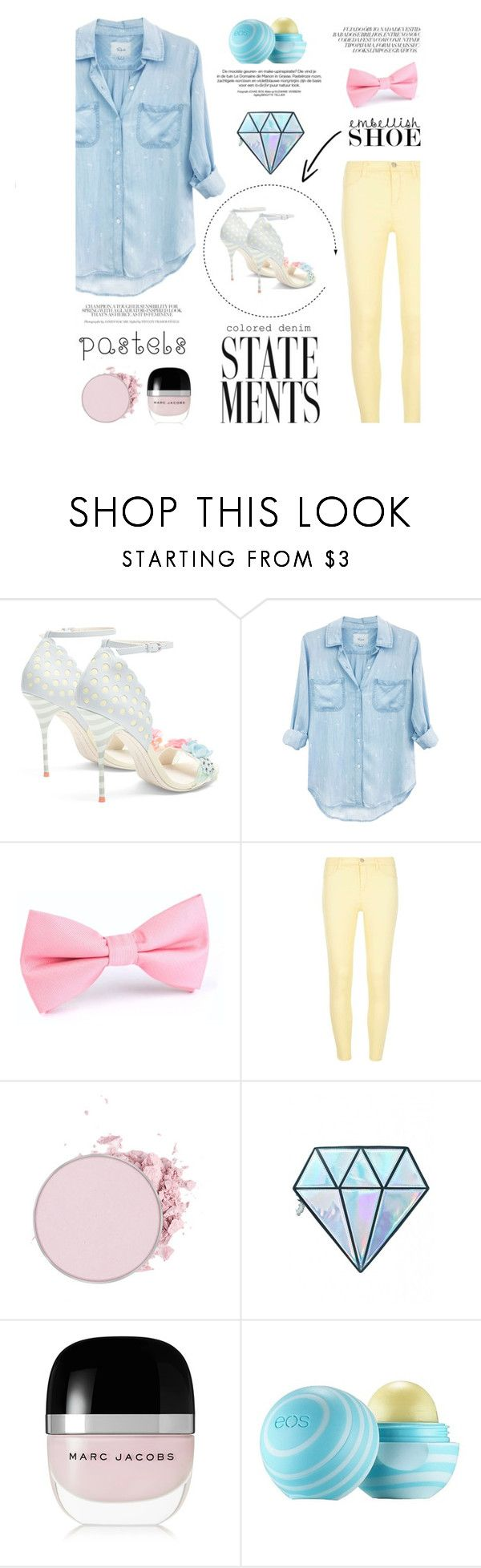 """""""Spring Has Sprung (I Hope)"""" by hmrodeck ❤ liked on Polyvore featuring Sophia Webster, Rails, Dorothy Perkins, Unicorn Lashes, Marc Jacobs and Eos"""