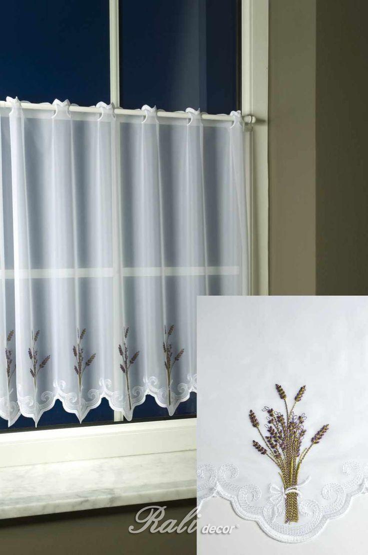 Levandule, vyšívaný voál výška 60 cm - RALI Decor, s.r.o. - bytový textil, záclony a povlečení