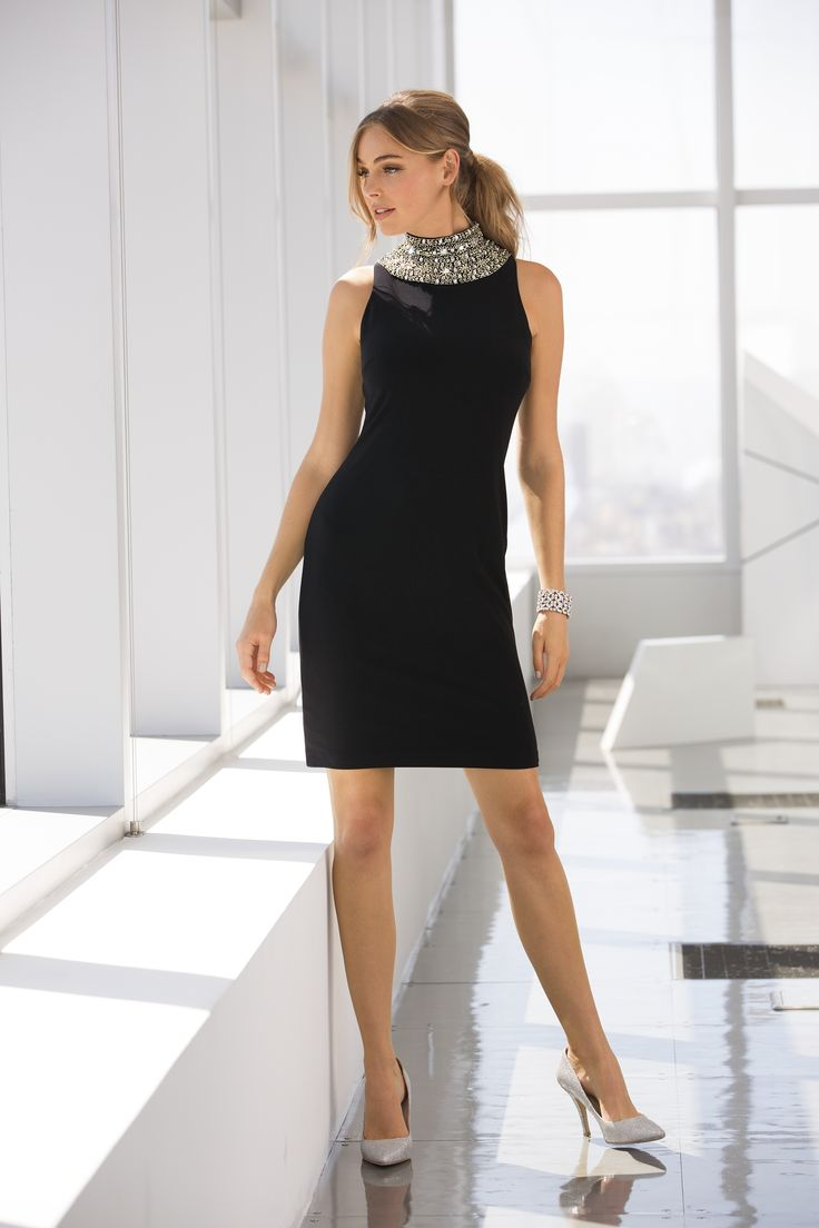 Trending Fashion | Women's Embellished Neck Sheath Dress by Boston Proper. The perfect combination of elegant and feminine. This sophisticated dress can take you from office parties to date night.