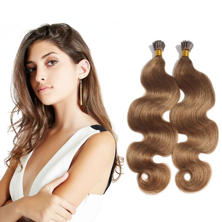 12 best pre bonded hair extensions images on pinterest fusion 6 30 inch 8 ash brown stick i tip body wave real human hair pmusecretfo Choice Image