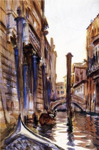 """""""Side Canal in Venice"""" by American artist John Singer Sargent"""