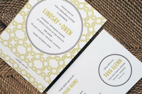 Oh So Beautiful Paper: Modern Rehearsal Dinner Invitation