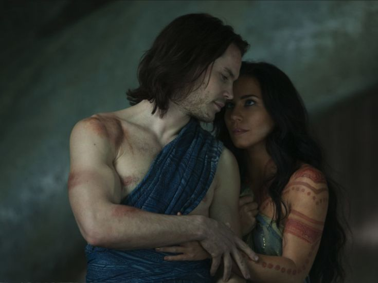 John Carter (Taylor Kitsch) and Dejah Thoris (Lynn Collins) - photo courtesy of barsoomia.org