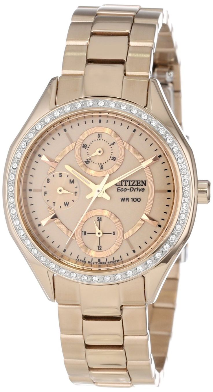 Citizen Women's Drive from Citizen Eco-Drive POV 2.0 Rose Gold Tone Swarovski Crystal Watch FD1063-57X
