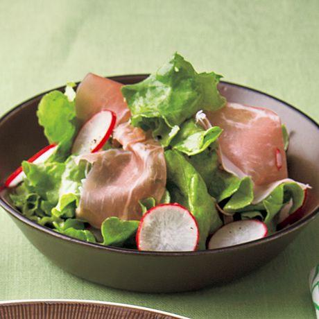生ハムとレタスのサラダ | 牛尾理恵さんのサラダの料理レシピ | プロの簡単料理レシピはレタスクラブニュース
