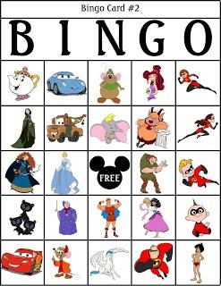 RobbyGurl's Creations: Disney Bingo