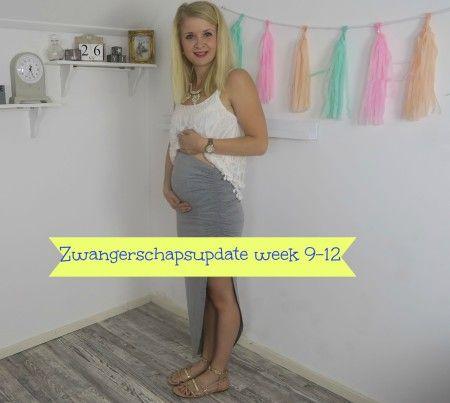 Zwangerschap week 9 tot 12 : Persoonlijke update van de zwangerschap, eerste trimester, de buik begint te groeien en