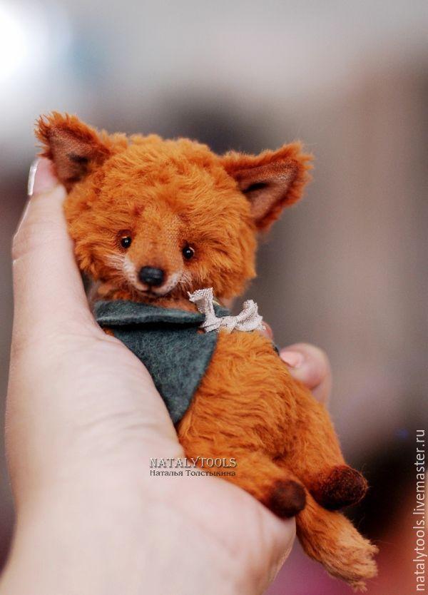 Купить Лисенок Ник. Nik fox pup тедди лис - оранжевый, рыжий, осень, лес