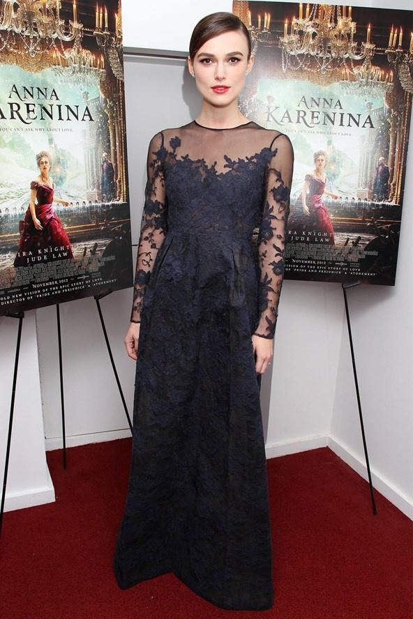 Keira Knightley at a New York screening of Anna Karenina