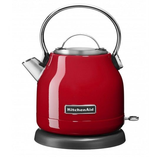 KEK1222 1.25L Electric Kettle      A cup of tea is all you need to start your day or refresh yourself in the afternoon. The KitchenAid 1.25L Electric Kettle ensures you get your cup quickly while offering a stylish compact footprint on your bench top.            Stainless steel body   Smooth, aluminum handle with stainless steel body           LED On/off switch ...