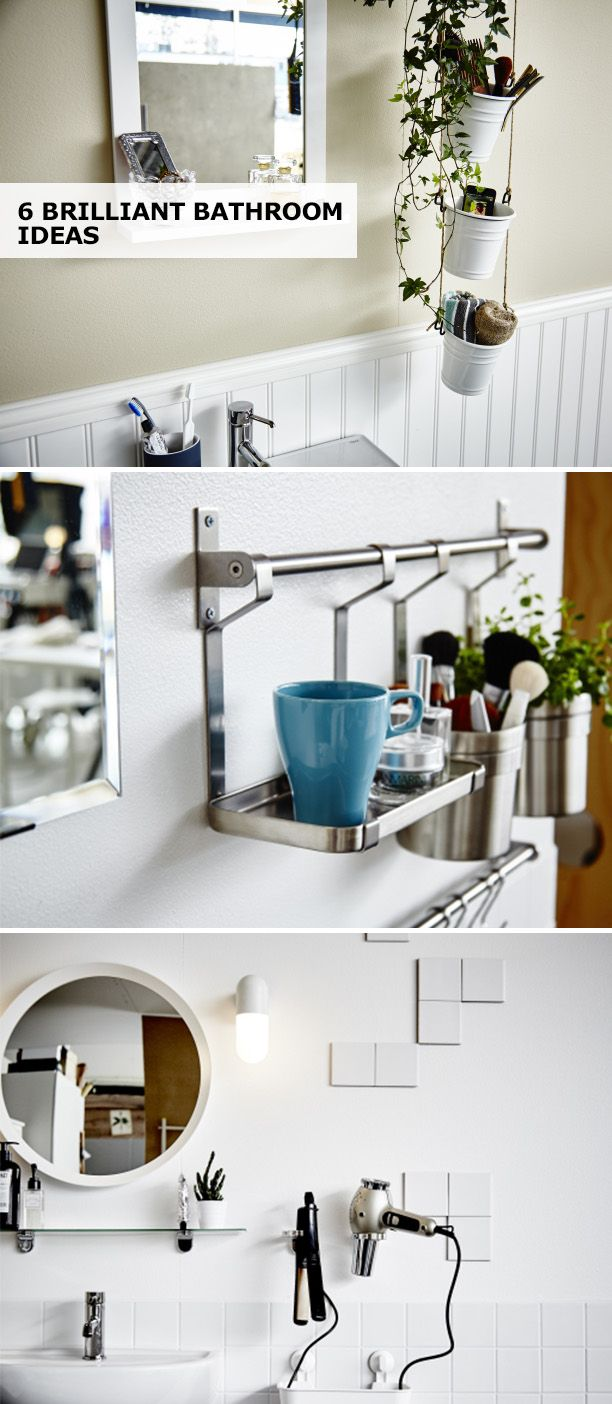 """""""We spend time in our bathroom every day, so why not enjoy it? Click for 6 brilliant bathroom ideas using items from around your home to make your space calmer & more relaxing."""