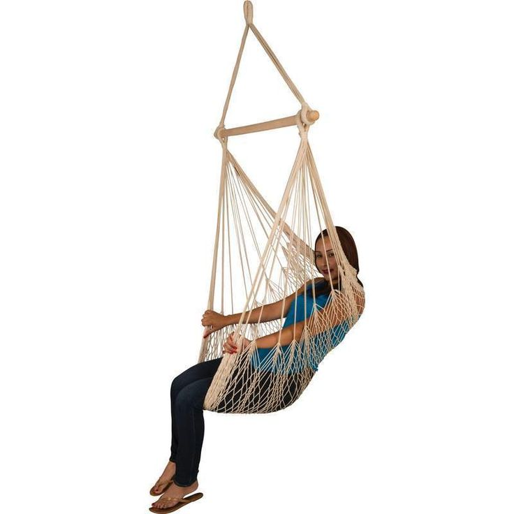 Hammock Hanging Rope Swing Seat Chair Porch Natural Color with Carry Bag #ClubFun