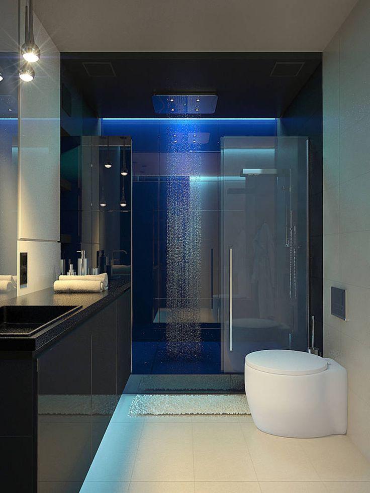 Casas de banho minimalistas por Dmitriy Khanin