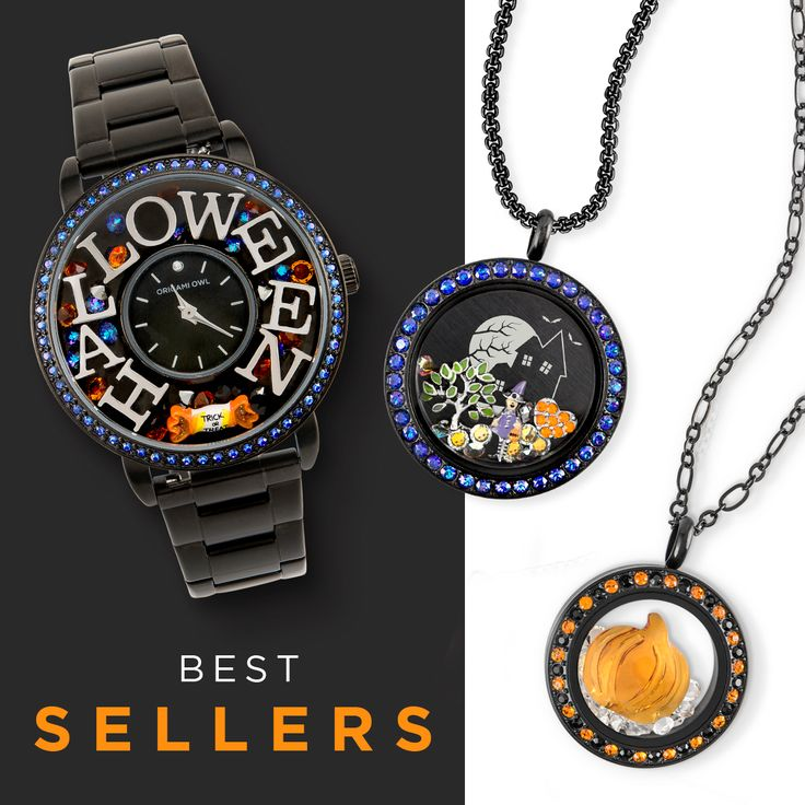 Halloween has arrived at Origami Owl! Which is your fave?? The watch is mine!