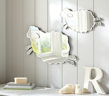 Harper Lamb Shaped Mirrors #pbkids - can't wait to see this hanging in Tori's nursery!