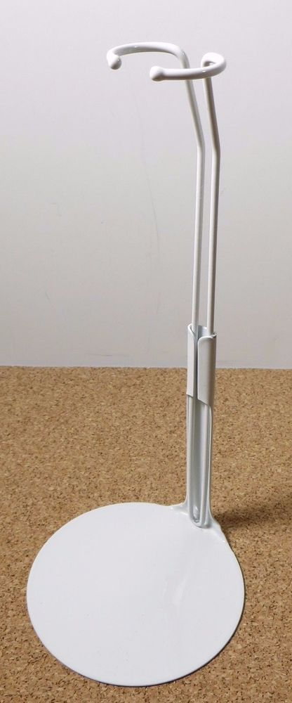 """1 Kaiser Doll Stand 2201 White Doll Stand 11.5"""" to 12.5"""" Cushion Coated Wires #Kaiser"""