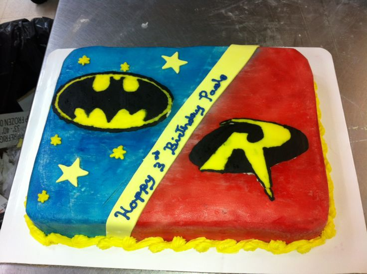 Batman And Robin Cake My Creations Pinterest Logos