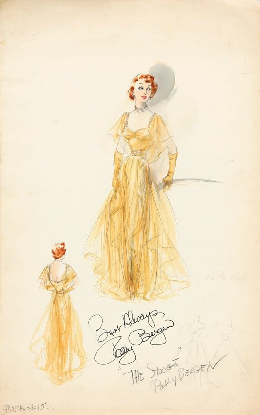 Edith Head costume design for Polly Bergen in The Stooge. (Paramount, 1952)