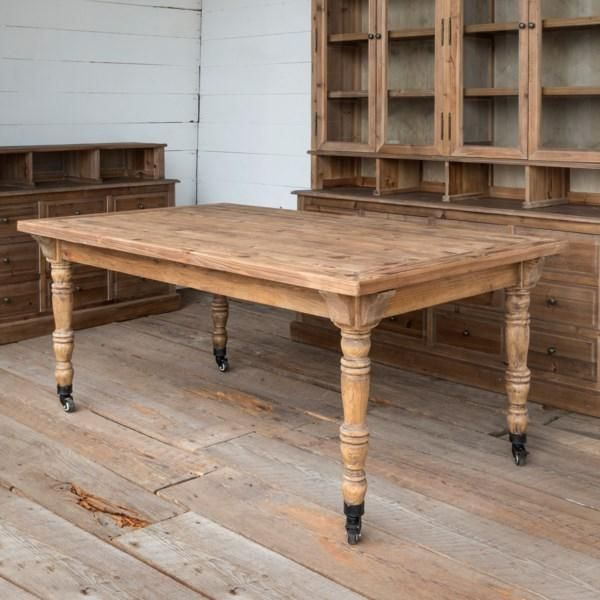 Jenifer Table With Images Rustic Farmhouse Dining Table