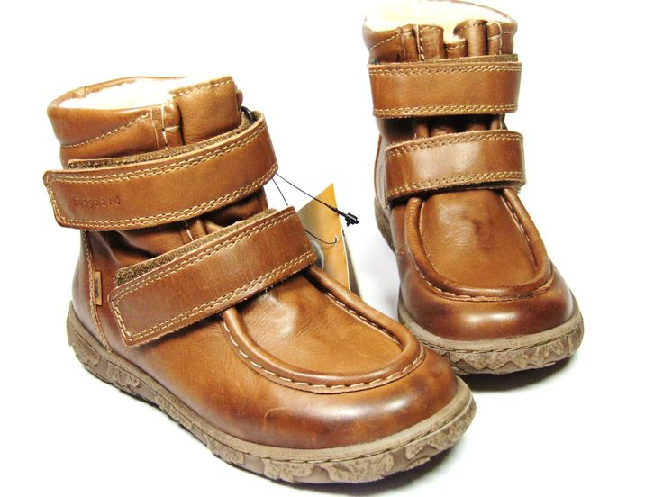NEW designer Bisgaard winter boots shoes soft leather with TEX & wool lining