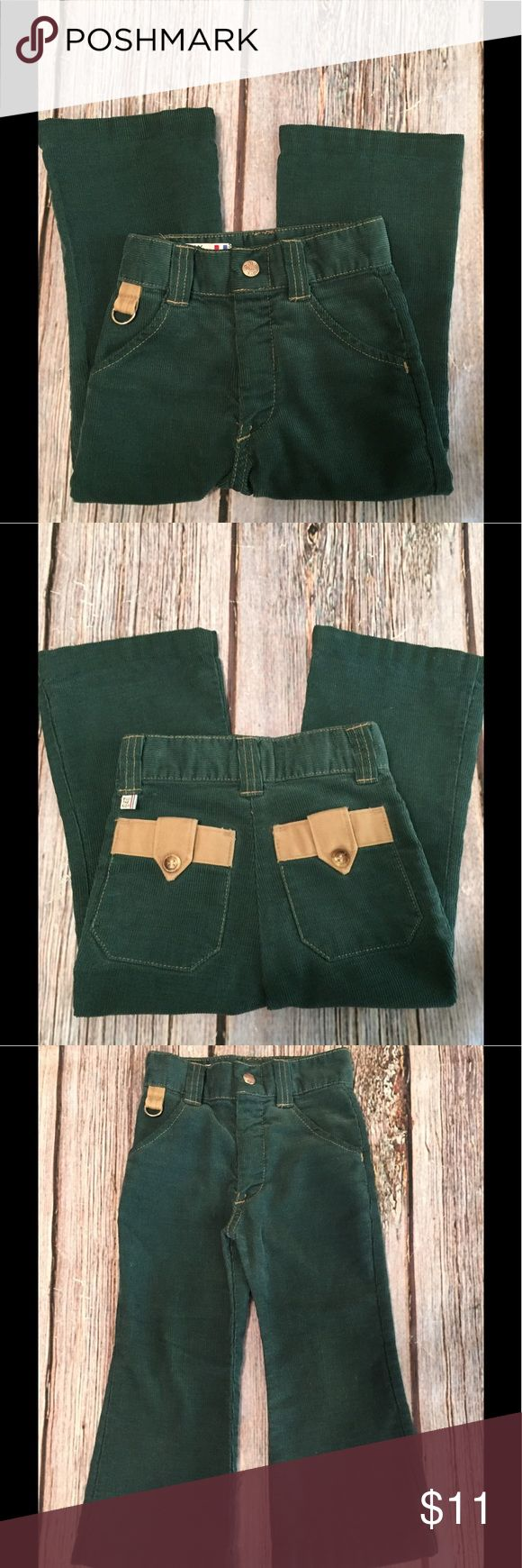 """Childrens Billy the Kid Corduroy Jeans SZ 4Slim Very cute and kind of retro! Childrens Billy the Kid green cords. Size 4 slim. Waist is 18"""" and length/inseam is 15"""" Billy the Kid Bottoms Jeans"""