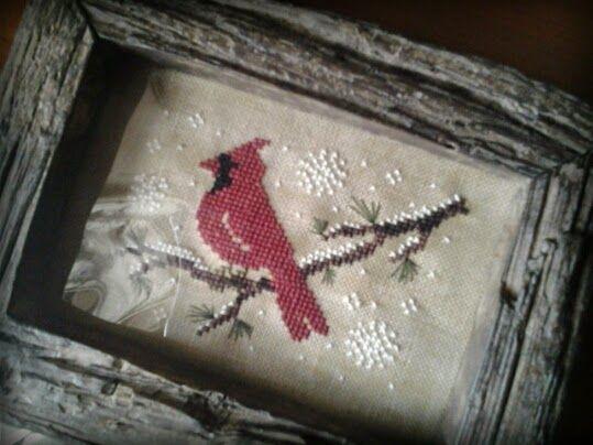 Crocette e Libri: Little Red Bird Design by The Little Stitcher