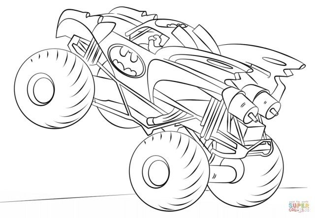 30 Creative Photo Of Monster Truck Coloring Pages Albanysinsanity Com Monster Truck Coloring Pages Batman Coloring Pages Truck Coloring Pages
