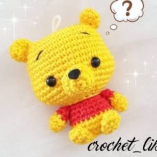Uncinetto amigurumi: Winnie the Pooh portachiavi - Keychain ... | 320x320