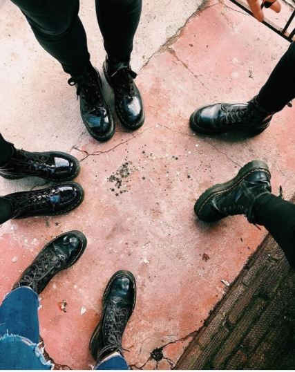 DOUBLE DOC'S: Or should we say quadruple. Four pairs of our tough, black boots looks good to us. Share your #doubledocs pics for a chance to feature here. Photo by roswithaverwer.
