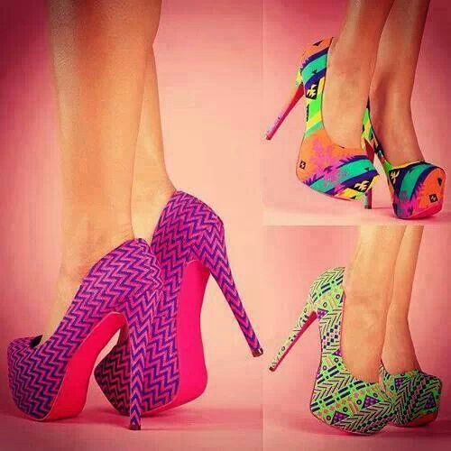Pretty colorful heels