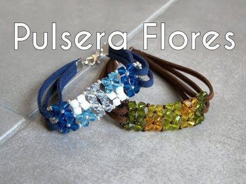 Abalorios Manualidades - Pulsera de Flores