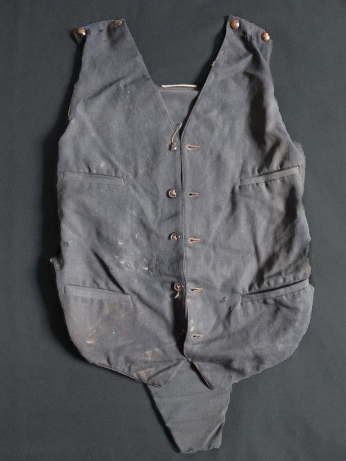 """This was Clydes bullet proof vest, it was found in the back seat of the car on May 23. The vest today is kept in the """"American Museum in Britain"""""""