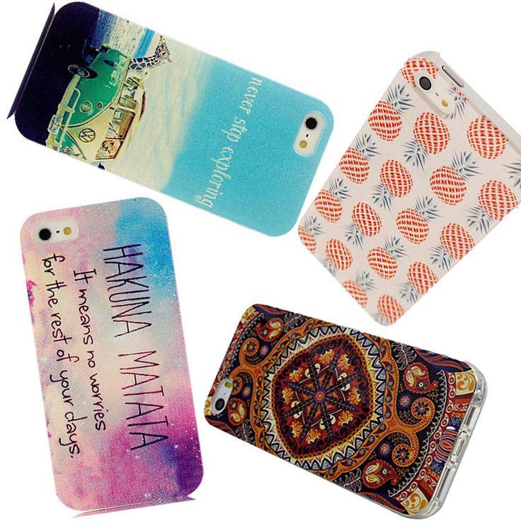 2015 Hoch 4 Muster Taschen Handyhülle TPU Soft Etui Cover Case Für iPhone 5 5s