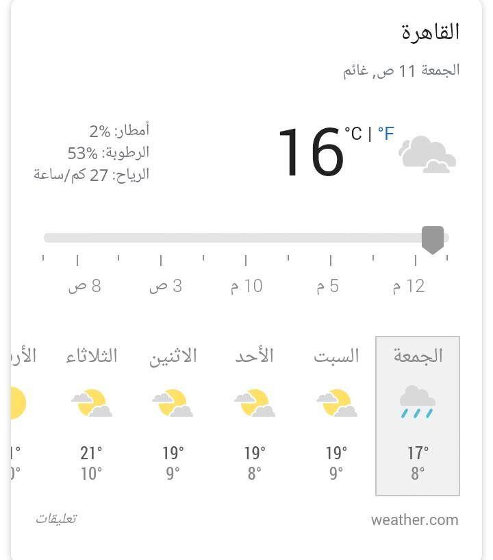 بعد ساعة واحد الأرصاد تحذر الجميع أمطار غزيرة تضرب عدد من المناطق منها القاهرة والوجه البحري Math