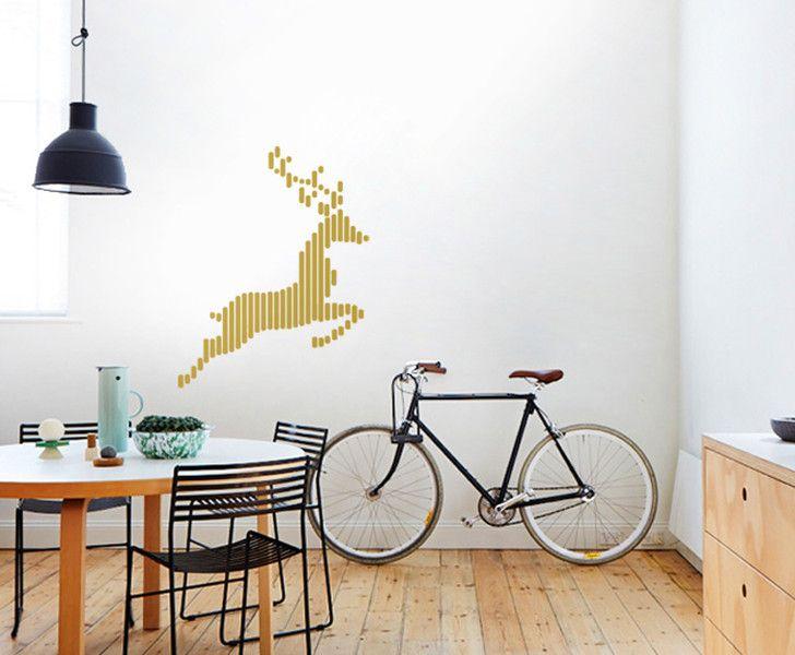 Fabulous Design Wandsticker HIRSCH IN GOLD Wallart