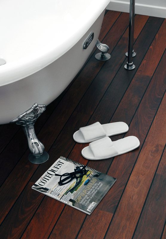 Quick Step Laminate Flooring   Lagune In A Stylish Bathroom In A Hotel In  France