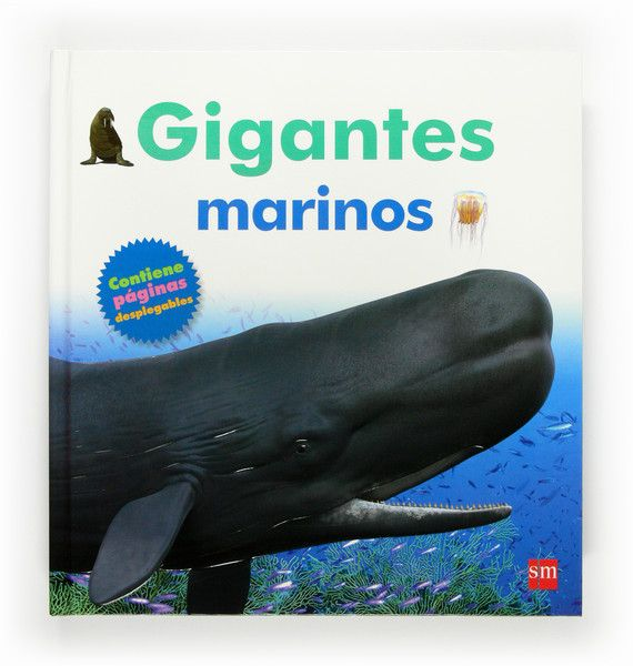Este libro con grandes páginas desplegables contiene información exhaustiva sobre el tiburón blanco, el calamar gigante, la medusa melena de león, el cachalote, el tiburón ballena, la morsa y el delfín mular.  El niño descubrirá en qué mares viven, quiénes son sus presas y sus enemigos. Incluye páginas desplegables con imágenes que parecen fotografías. http://rabel.jcyl.es/cgi-bin/abnetopac?SUBC=BPSO&ACC=DOSEARCH&xsqf99=1769857